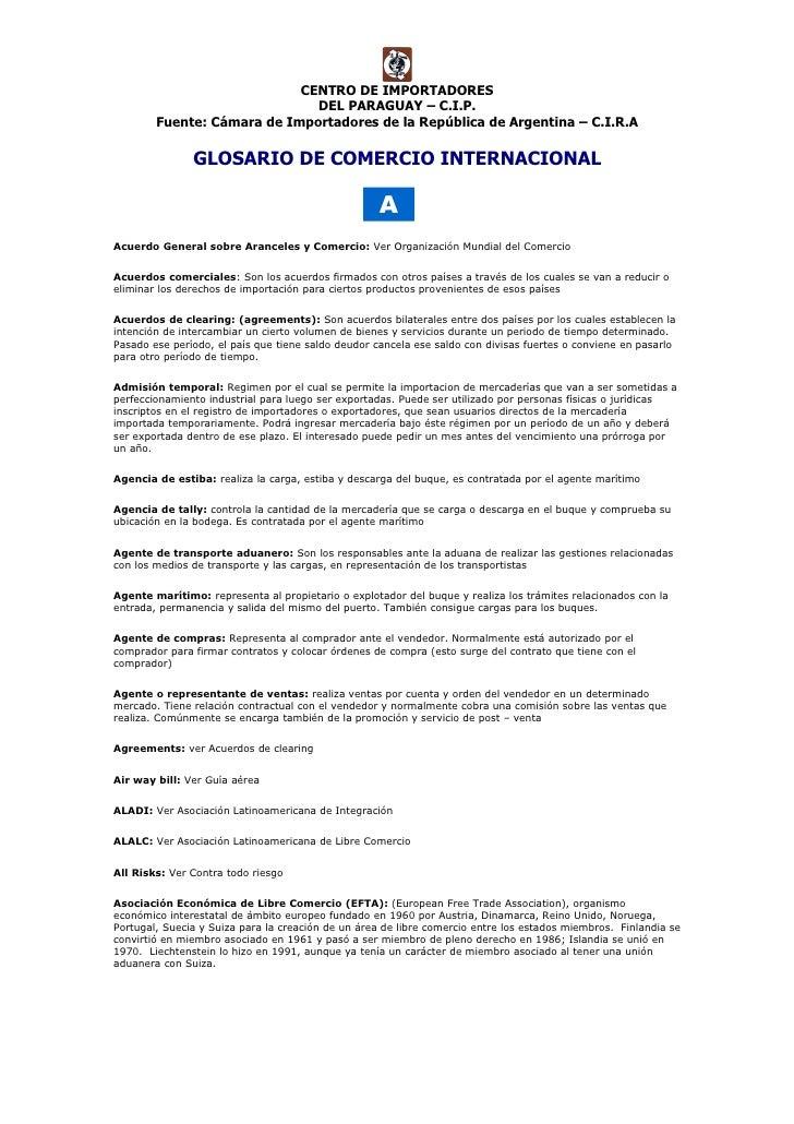 CENTRO DE IMPORTADORES                               DEL PARAGUAY – C.I.P.         Fuente: Cámara de Importadores de la Re...