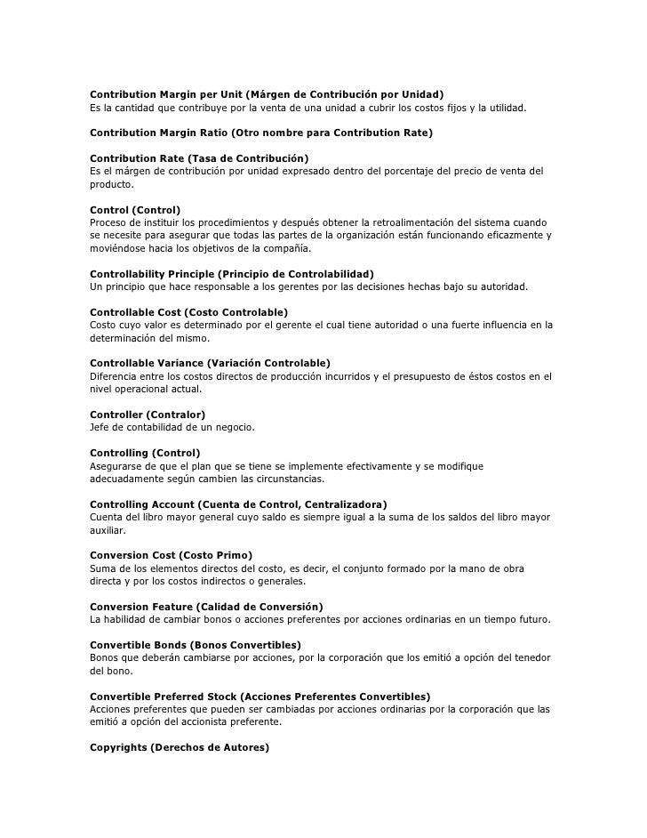 Glosario Contabilidad Ingles Espanol