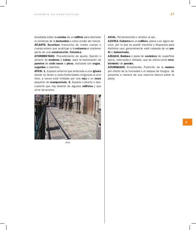 glosario de arquitectura On q significa arquitectura