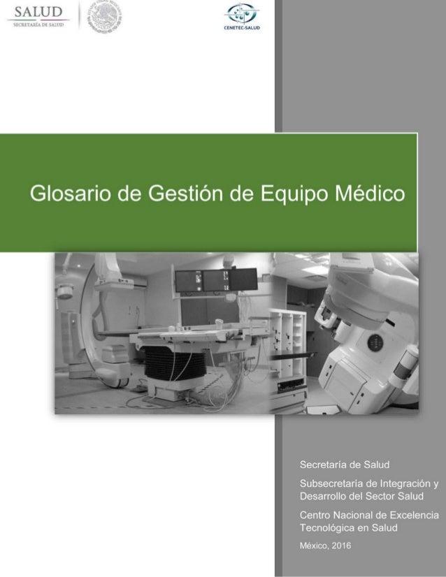 Glosario de Gestión de Equipo Médico