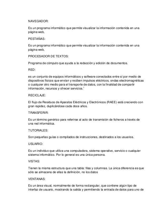 GLOSARIO DE INFORMATICA PDF