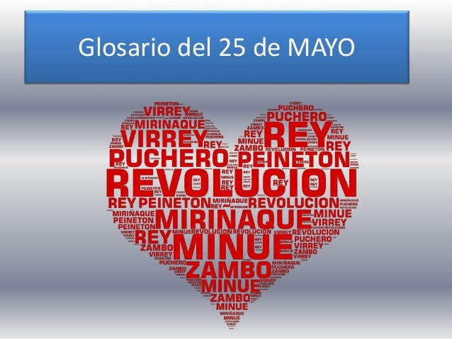 Glosario del 25 de MAYO