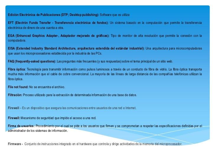 Edición Electrónica de Publicaciones (DTP; Desktop publishing): Software que es utilizaEFT (Electrón Funds Transfer - Tran...