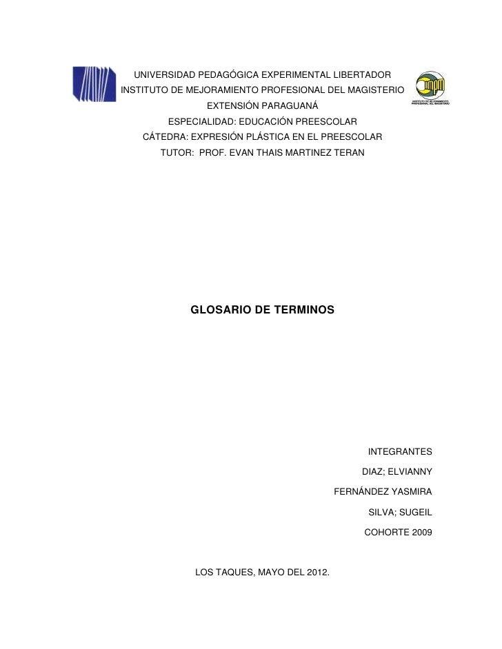 UNIVERSIDAD PEDAGÓGICA EXPERIMENTAL LIBERTADORINSTITUTO DE MEJORAMIENTO PROFESIONAL DEL MAGISTERIO               EXTENSIÓN...