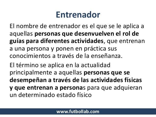 Glosario De Terminos Para Entrenadores De Futbol