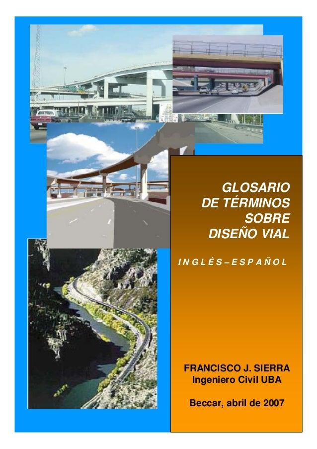 584c13f13 Glosario diseño vial inglés español