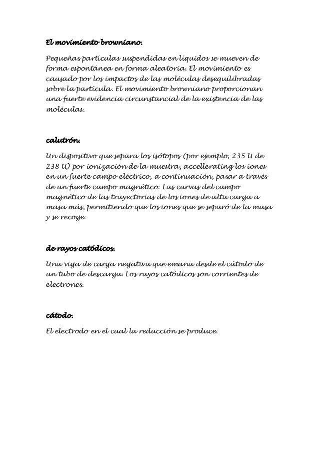 Glosario quimica