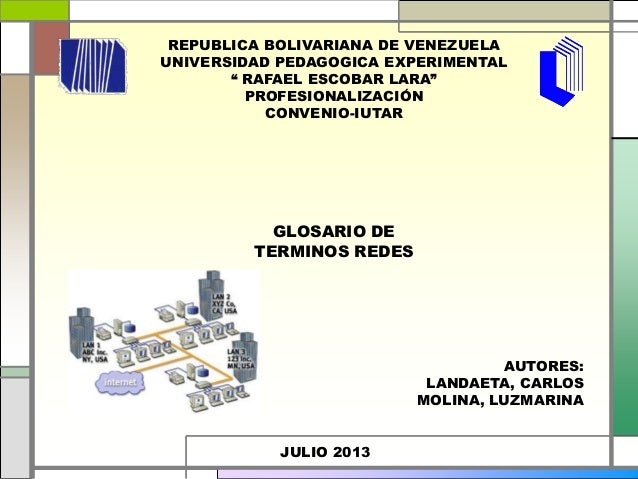 "REPUBLICA BOLIVARIANA DE VENEZUELA UNIVERSIDAD PEDAGOGICA EXPERIMENTAL "" RAFAEL ESCOBAR LARA"" PROFESIONALIZACIÓN CONVENIO-..."