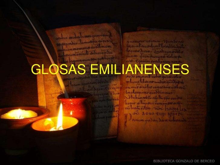 GLOSAS EMILIANENSES