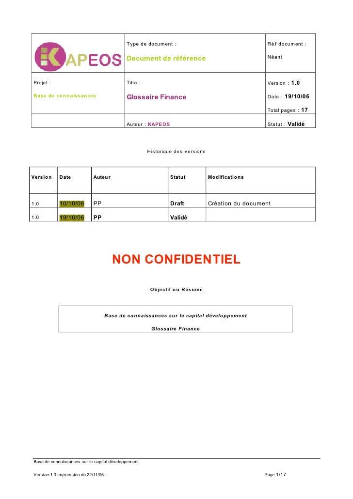 Type de document :                                     Ré f document :                                                    ...