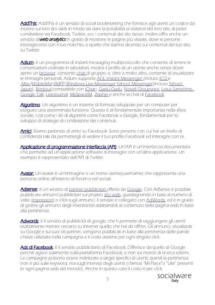 Glossario di incontri online