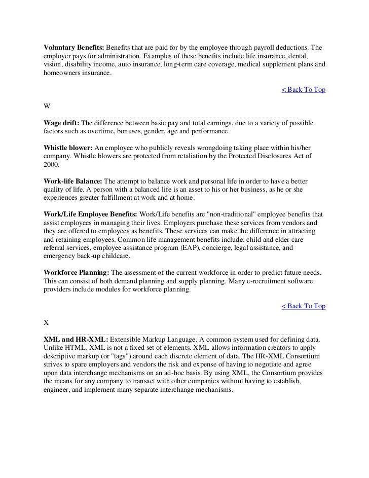 Glossary human resource management - Short term disability plan design ...