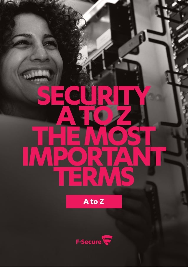Security AtoZ themost important terms A to Z