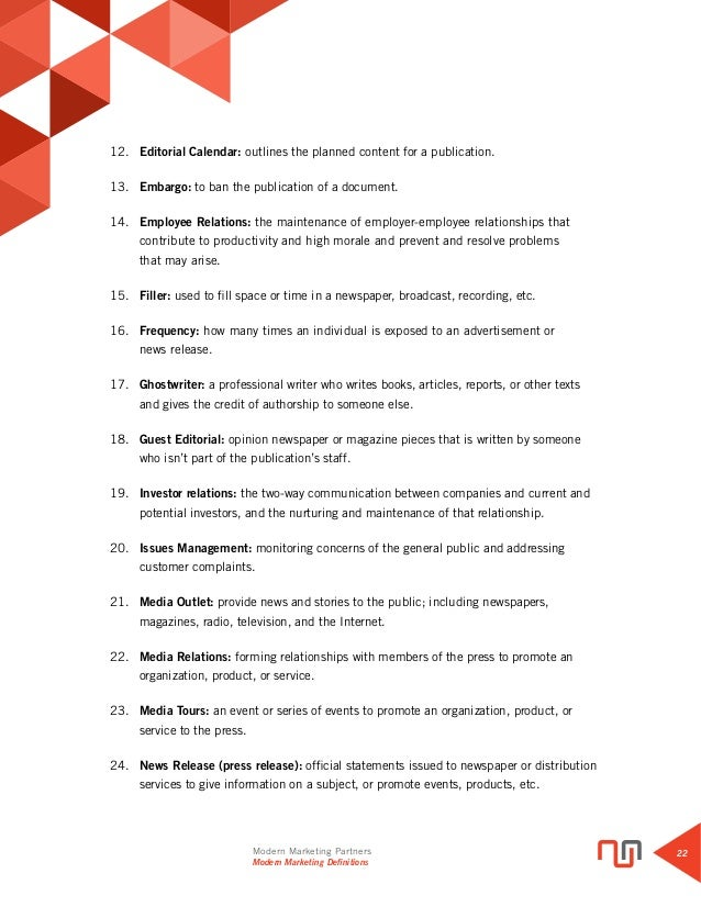 Glossary of Modern Marketing Definitions