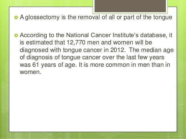 Glossectomy presentation Slide 3