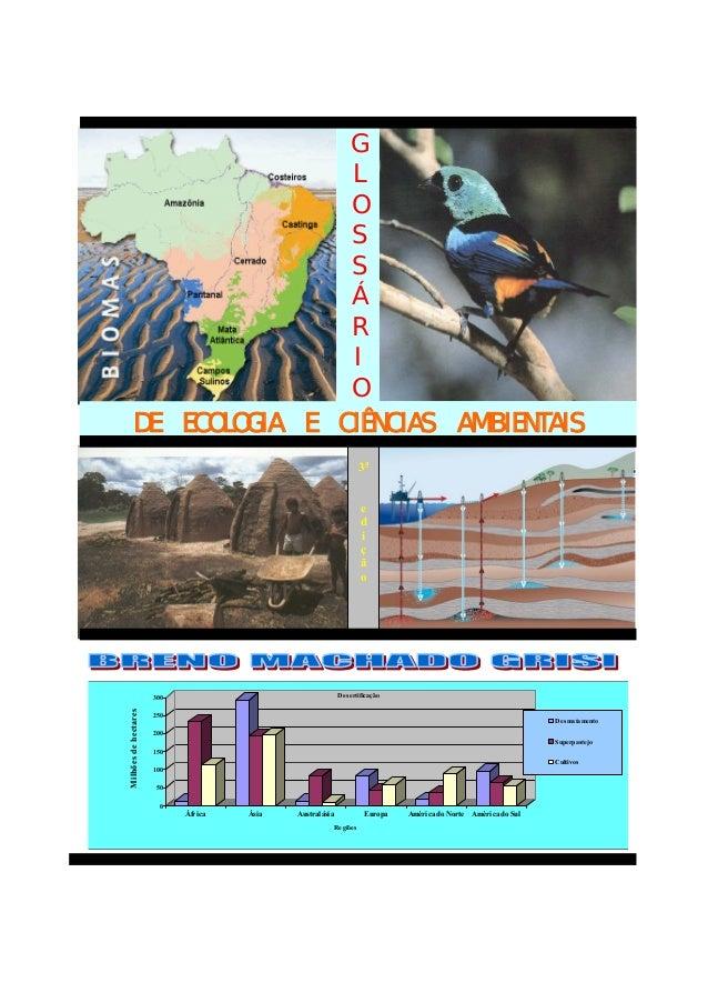 GLOSSÁRIODE ECOLOGIA E CIÊNCIAS AMBIENTAIS3aedição050100150200250300MilhõesdehectaresÁfrica Ásia Australásia Europa Améric...