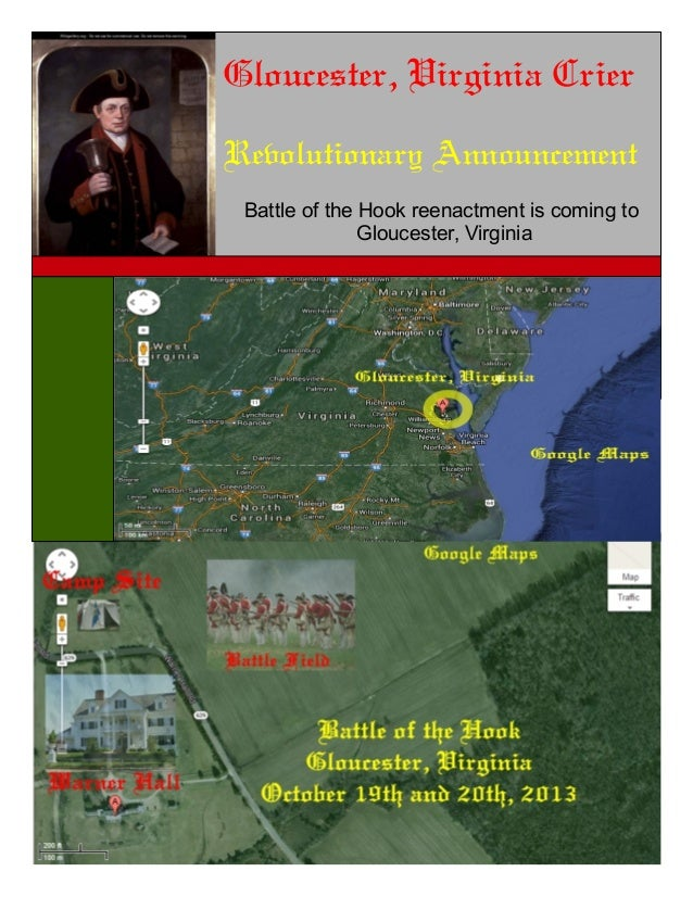 Gloucester, Virginia Crier Revolutionary Announcement Battle of the Hook reenactment is coming to Gloucester, Virginia
