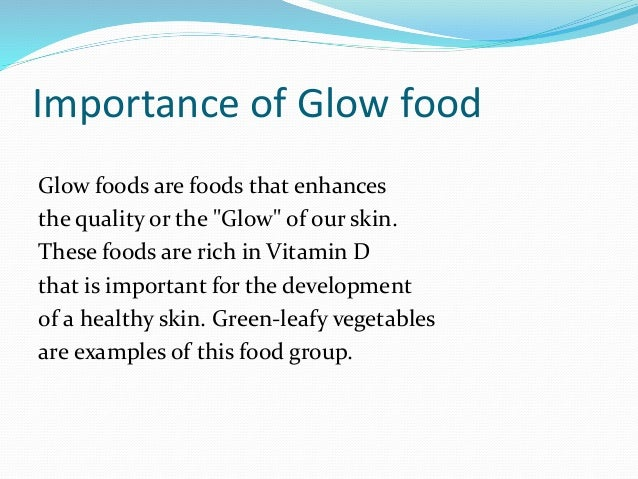 go grow glow foods examples list pdf