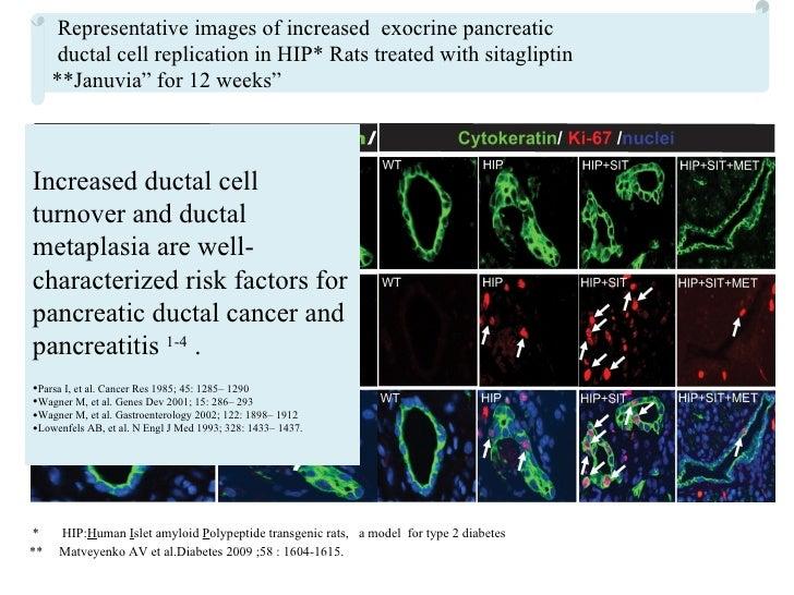 Sitagliptin or sitagliptin/metformin  marketed as Januvia and Janumet))  Acute pancreatitis warning In 2009, FDA has comp...