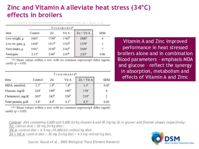Recommended vitamin levels for high performance broilers and