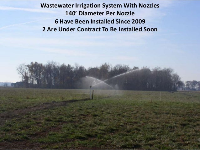 Wastewater Irrigation System With Nozzles 140' Diameter Per Nozzle 6 Have Been Installed Since 2009 2 Are Under Contract T...