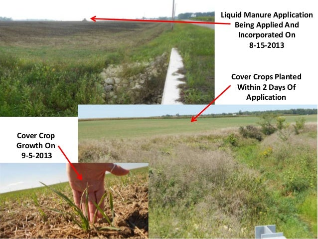 Liquid Manure Application Being Applied And Incorporated On 8-15-2013  Cover Crops Planted Within 2 Days Of Application  C...
