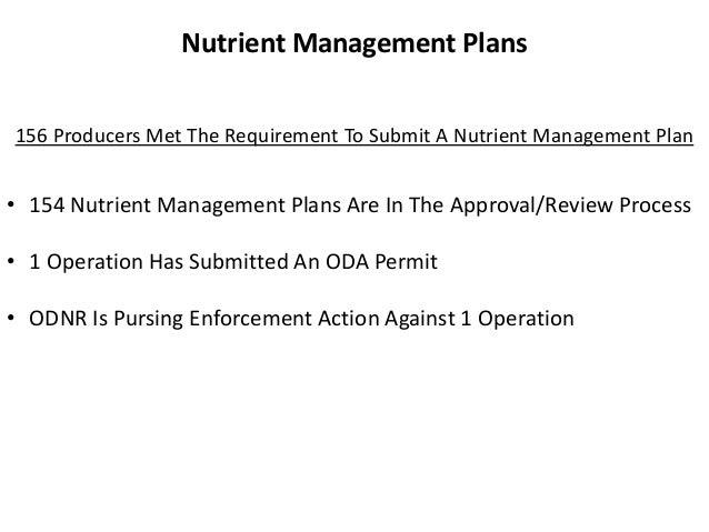 Nutrient Management Plans 156 Producers Met The Requirement To Submit A Nutrient Management Plan  • 154 Nutrient Managemen...