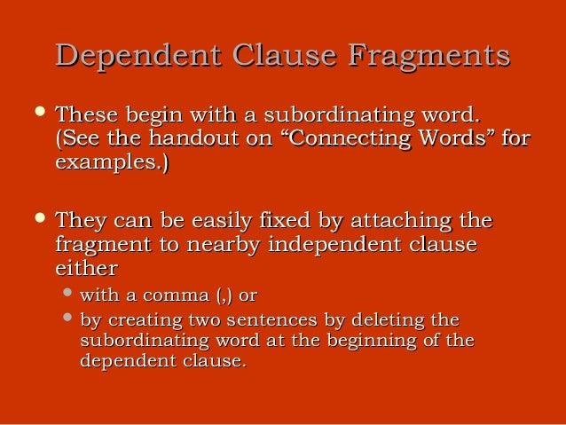 how to fix a relative clause fragment