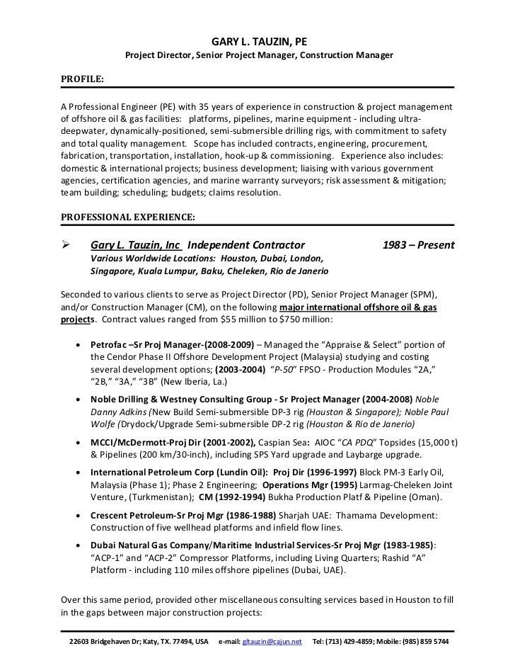 Gl tauzin resume 2011 generic stopboris Choice Image
