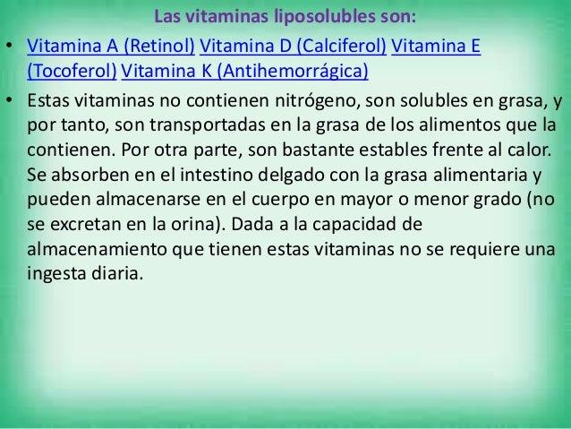 Vitaminas Hidrosolubles • Las vitaminas hidrosolubles son aquellas que se disuelven en agua. Se trata de coenzimas o precu...