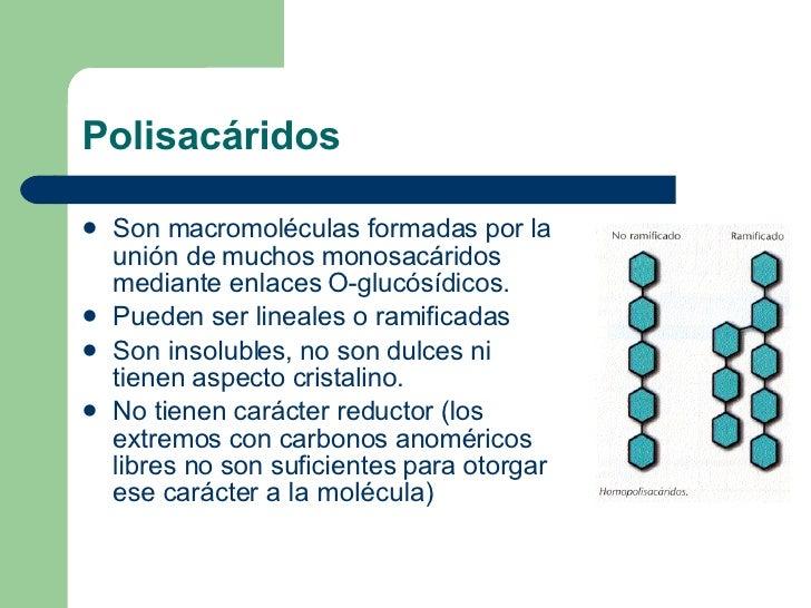 Polisacáridos <ul><li>Son macromoléculas formadas por la unión de muchos monosacáridos mediante enlaces O-glucósídicos. </...