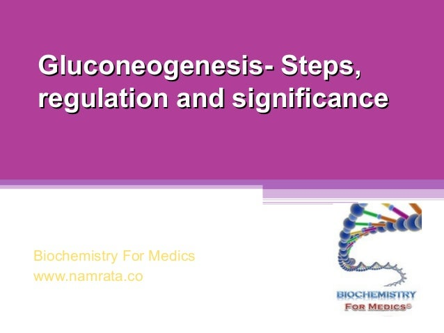 Gluconeogenesis- Steps, regulation and significance  Biochemistry For Medics www.namrata.co
