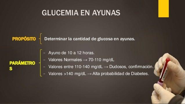 ayuno para analisis de glucemia