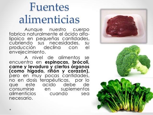 Glucosamina y acido lipoico - Alimentos que evitan el cancer ...