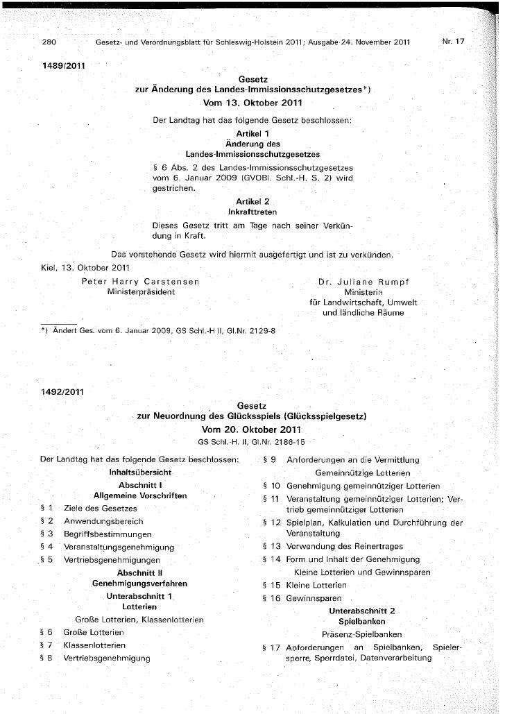 Schleswig-Holstein_Gambling Act_German version_oct 2011_Gluecksspielgesetz S-H GVBl 2011