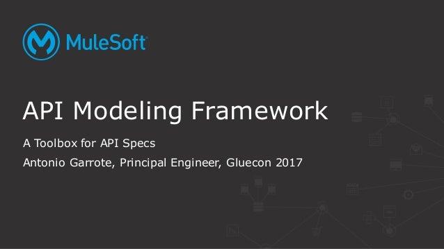 A Toolbox for API Specs Antonio Garrote, Principal Engineer, Gluecon 2017 API Modeling Framework