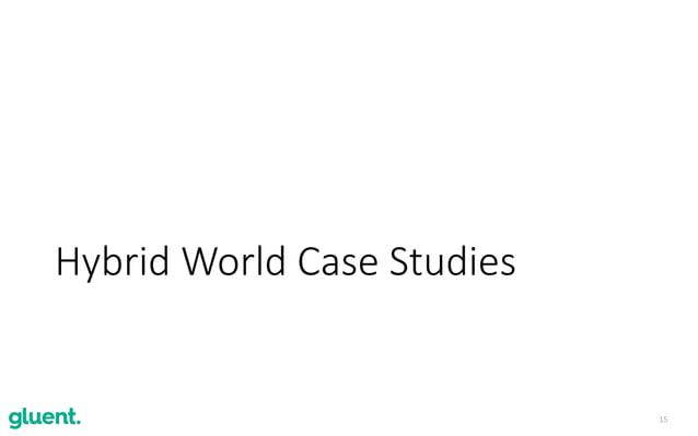 15 Hybrid World Case Studies