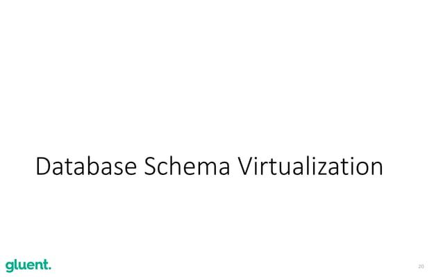 20 Database Schema Virtualization