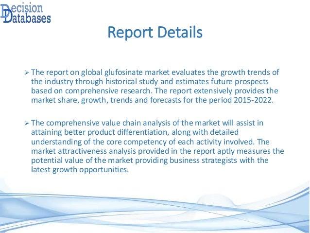 Glufosinate Market Analysis Report and Opportunities Upto 2022 Slide 3