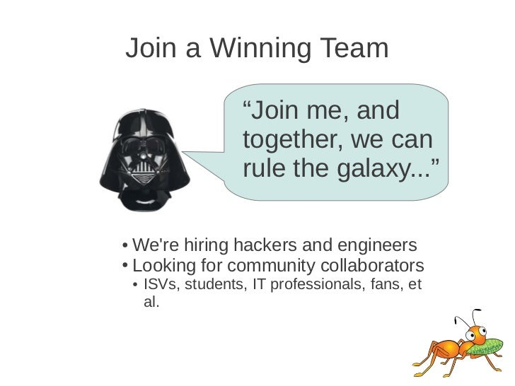"""Join a Winning Team                       """"Join me, and                       together, we can                       rule ..."""