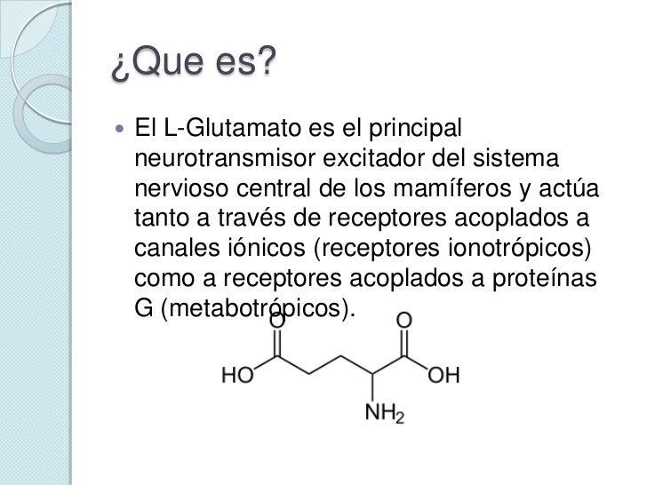 Resultado de imagen de glutamato