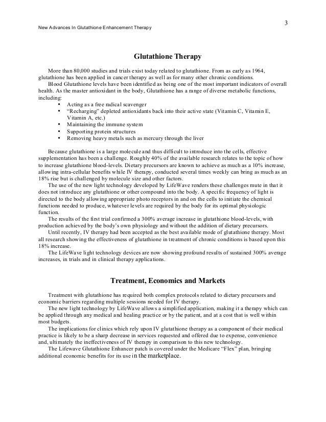 Glutathione Case Study