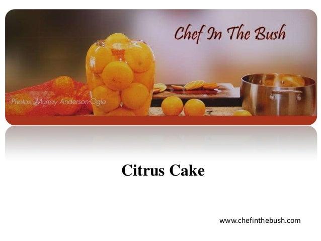 Citrus Cake www.chefinthebush.com