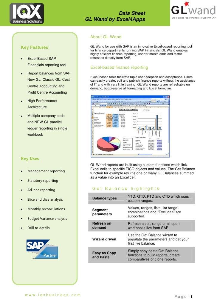 Vervanging FSG door Excel met GL-Wand