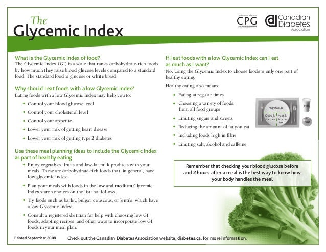 TheGlycemic IndexWhat is the Glycemic Index of food?                                         If I eat foods with a low Gly...
