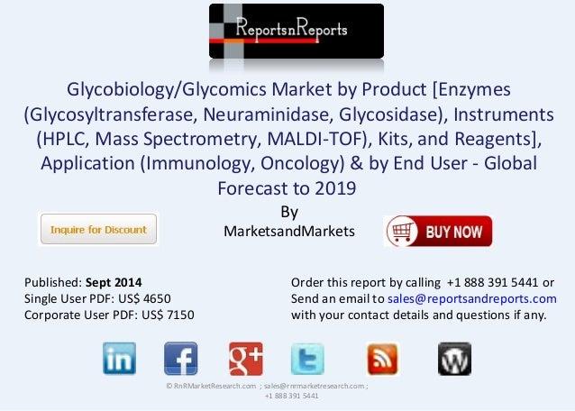 Glycobiology/Glycomics Market by Product [Enzymes  (Glycosyltransferase, Neuraminidase, Glycosidase), Instruments  (HPLC, ...