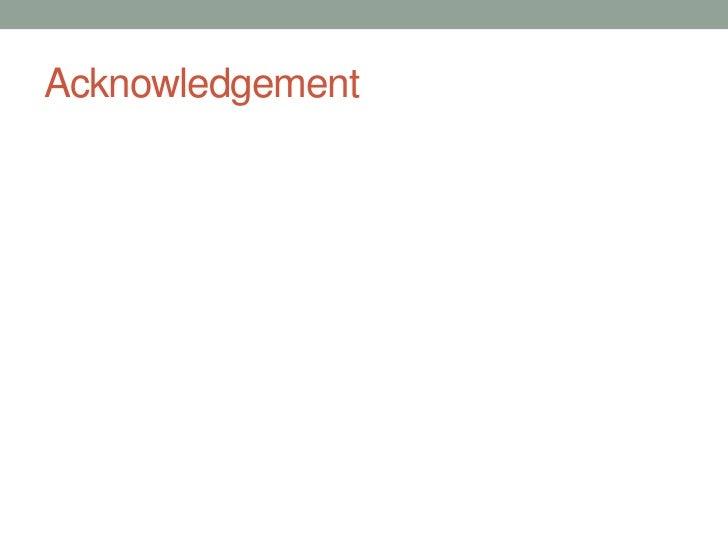Acknowledgement   <br />