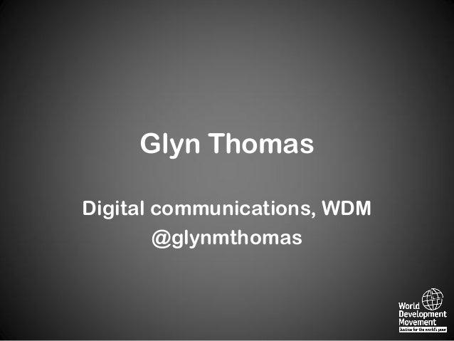 Glyn ThomasDigital communications, WDM@glynmthomas