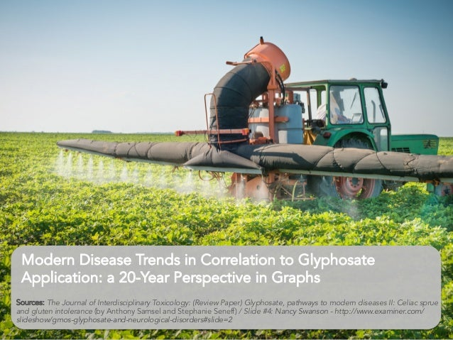 Modern Disease Trends in Correlation to Glyphosate Application: a 20-Year Perspective in Graphs 	    	    	    Sources: ...