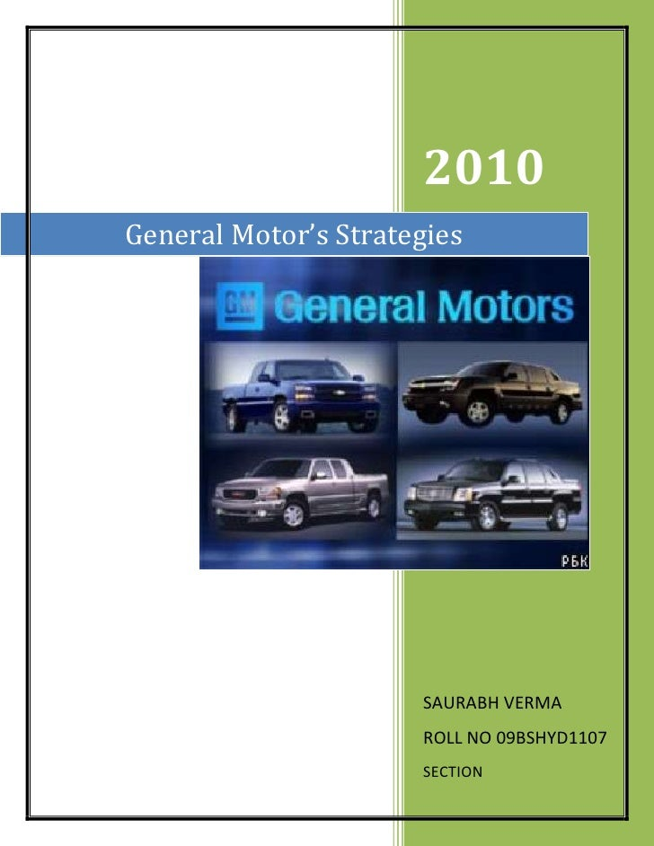 changing strategy of general motors essay